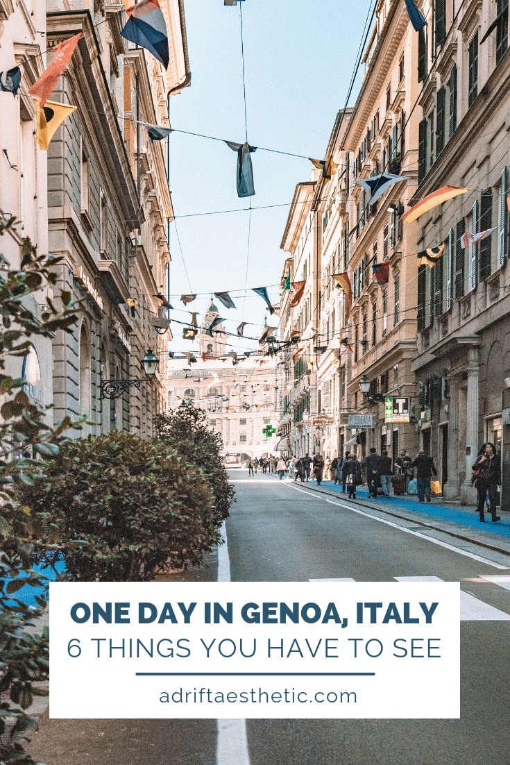 Even if you only travel to Genoa for one day, the old-world Italian vibe and lack of tourists will win you over. One of the most historic cities in Italy, Genoa has a beautiful mix of architecture, food and culture, perfect for anyone's Italian bucket list. #italy #genoa #travel