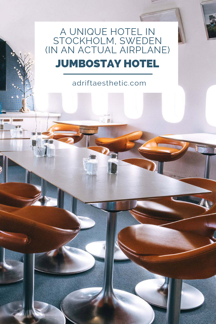 The JumboStay Hotel near the Arlanda Airport of Stockholm, Sweden is perfect for travelers that need to catch early morning flights. Not only is it super close to the airport, but you'll be staying in a retired Boeing 747 jet! The main cabin of the airplane houses multiple rooms, with special suites in the cockpit and turbines. Plus the wing serves as an outdoor deck! This is a totally different hotel experience from anywhere you've stayed before. #sweden #stockholm #hotels #travel