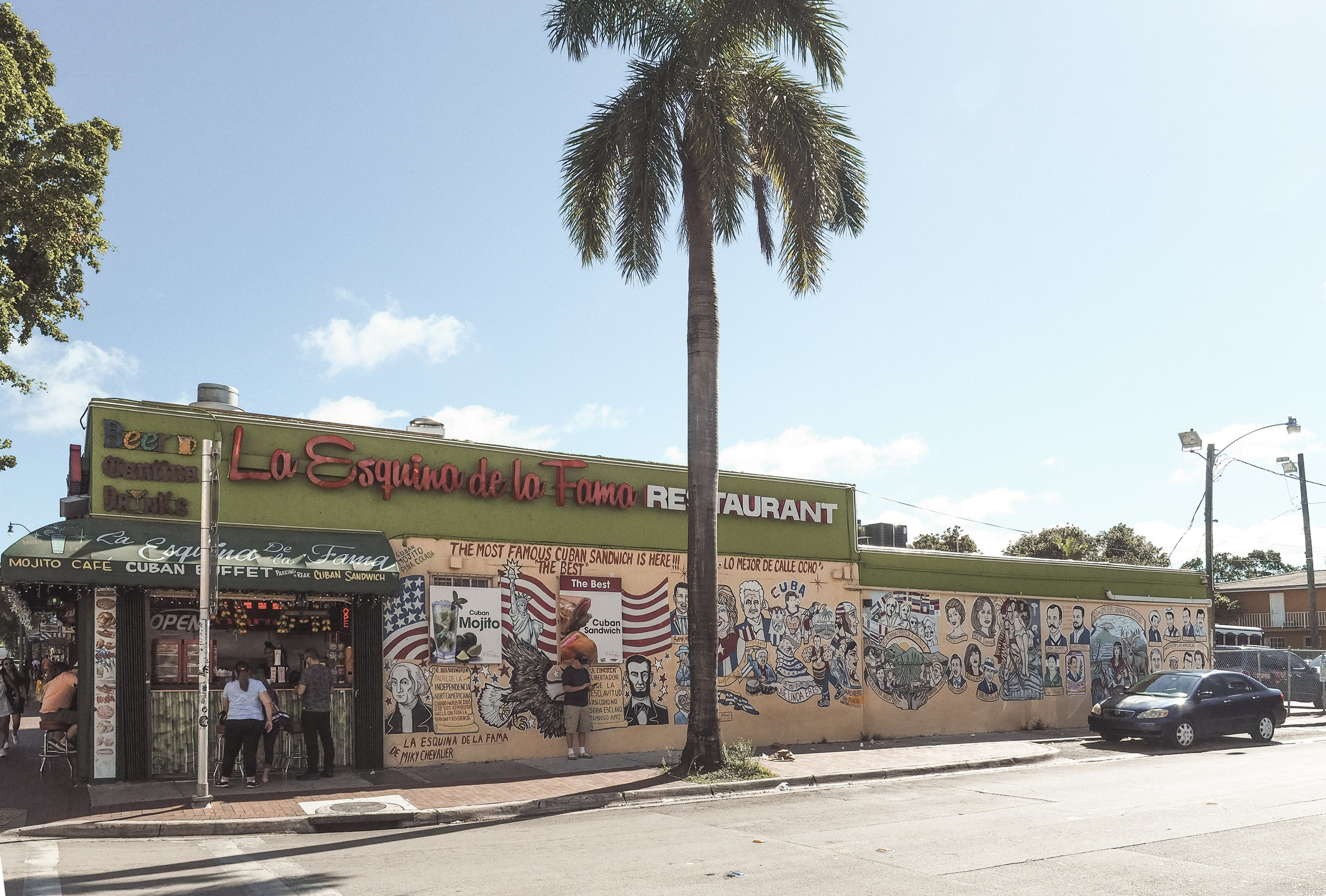 There are a lot of things to see in Miami, but one of the most unique things you can do is take a self-guided walking tour of Little Havana! In this beautiful neighborhood, you'll find shops, restaurants and colorful street art celebrating the vibrant culture and heritage of Cuba. You'll almost feel like you've actually traveled to another country! #florida #littlehavana #miami #traveldestinations