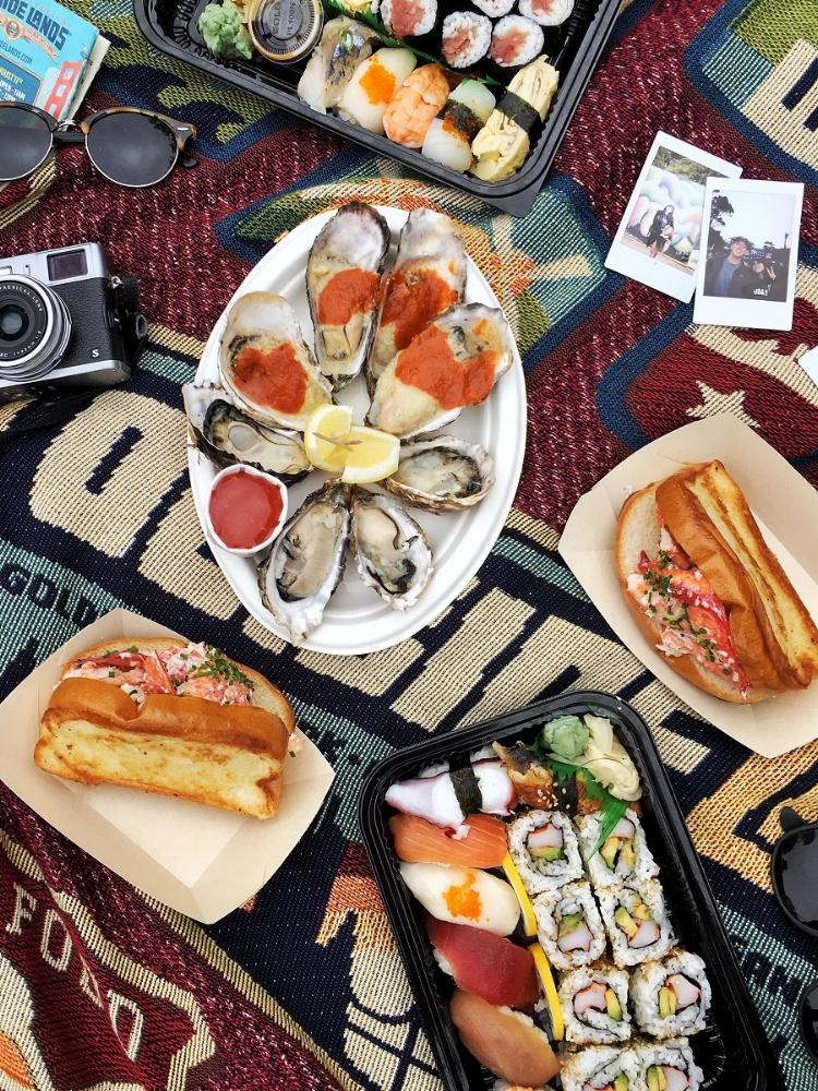Woodhouse Lobster Roll + Oysters (BBQ & Raw)... MmmmmmMMm say no more fam.