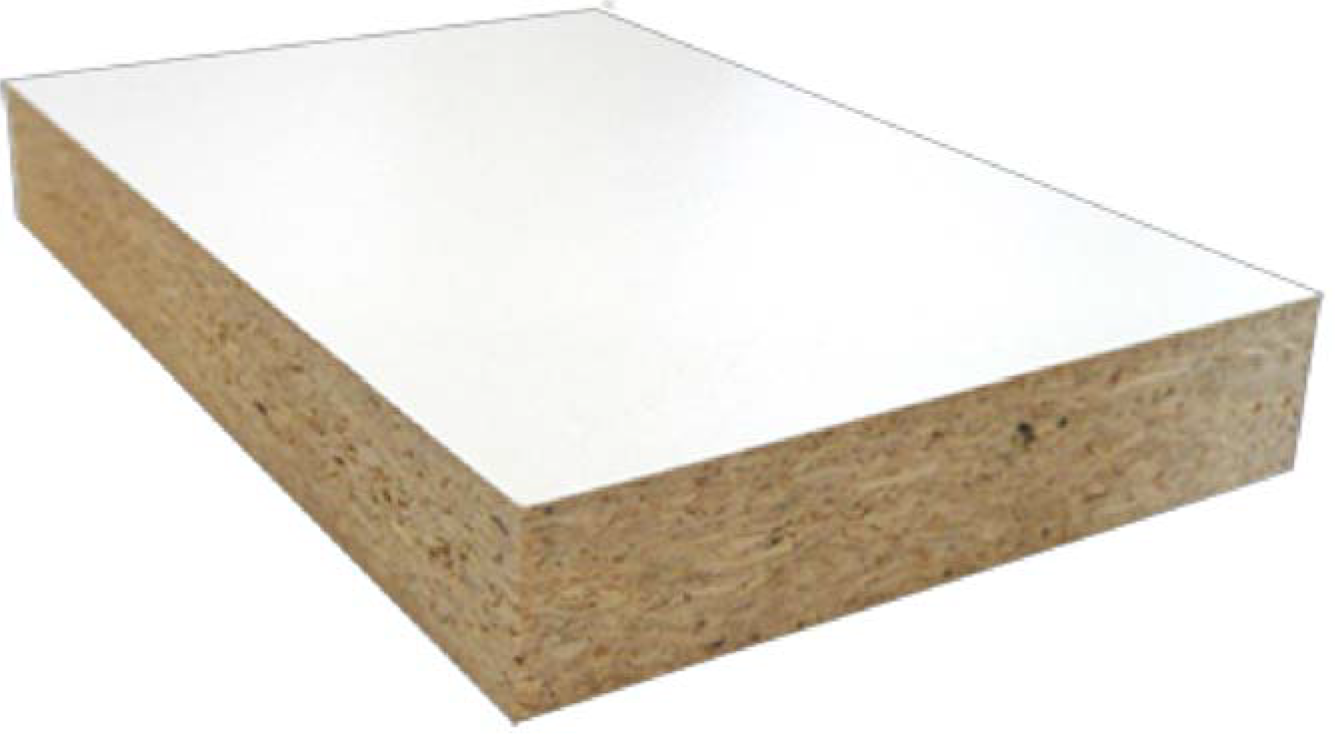 Melamine on Particleboard
