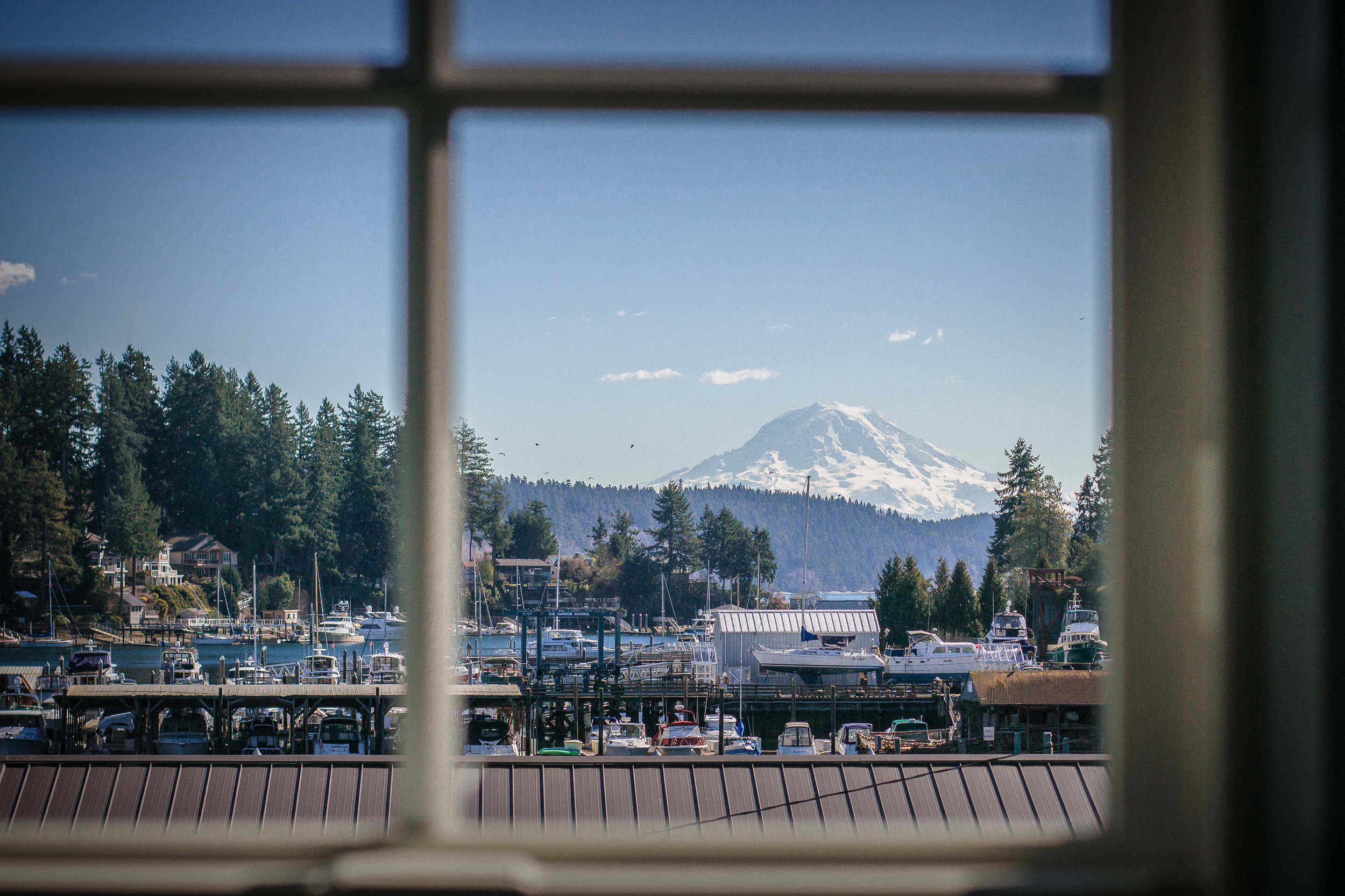 Mt Rainier views from our Upstairs Dining Room