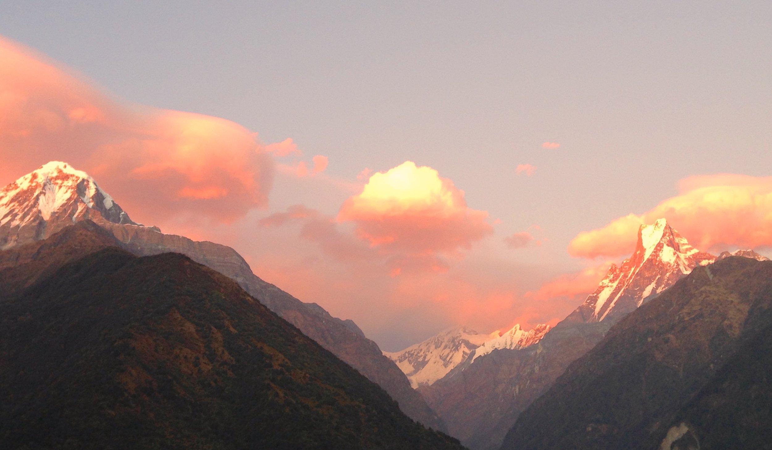 """Shiva's Way"" © November 2012  mariannenishifué.com  Machapuchare Annapurna South Trail"