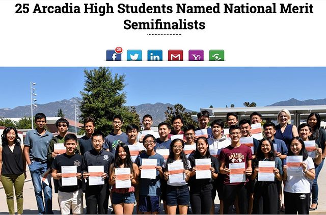 "Fun fact: This year, Arcadia High led in most students named ""National Merit Scholarship Semifinalist"" in ALL of Los Angeles County! Way to go JASON! 👏🏻 The National Merit Scholarship Program is a prestigious academic competition recognizing students who scored the highest scores on the Preliminary SAT/National Merit Scholarship Qualifying Test (PSAT/NMSQT). The top 1.5% of test-takers become National Merit Scholarship Semifinalists. -nationalmerit.org Photo: AUSD #decodedprep #studentsofdecodedprep #testprep #perfectscore #tutoringcenter #satprep #actprep #education #psat #arcadia #arcadiahigh #arcadiahighschool #psat #nmsq #nationalmeritsemifinalist"