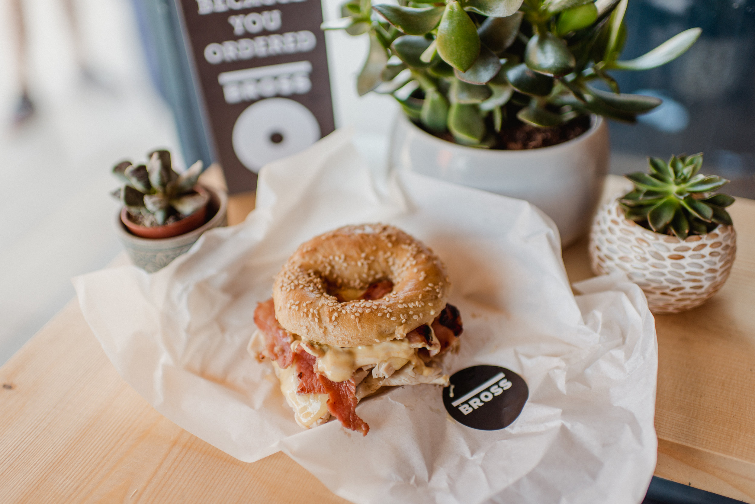 3 FOR 2 ON ALL FILLED BAGELS AND FREE MERCHANDISE -