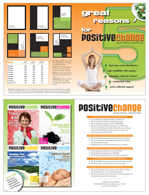 Positive Change magazine - development of a new media kit