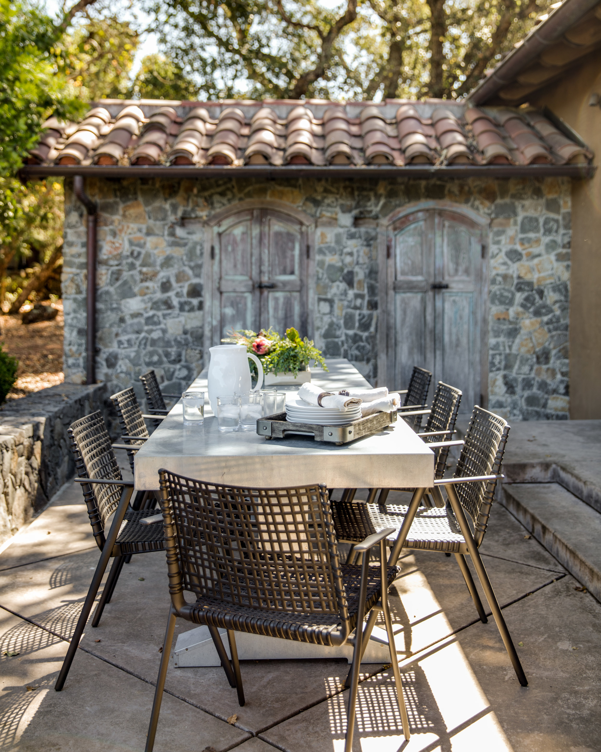 Fletcher Rhodes Interior Design, Outdoor Patio, Backyard Style, Wine Country Dining, Wine Country Entertaining