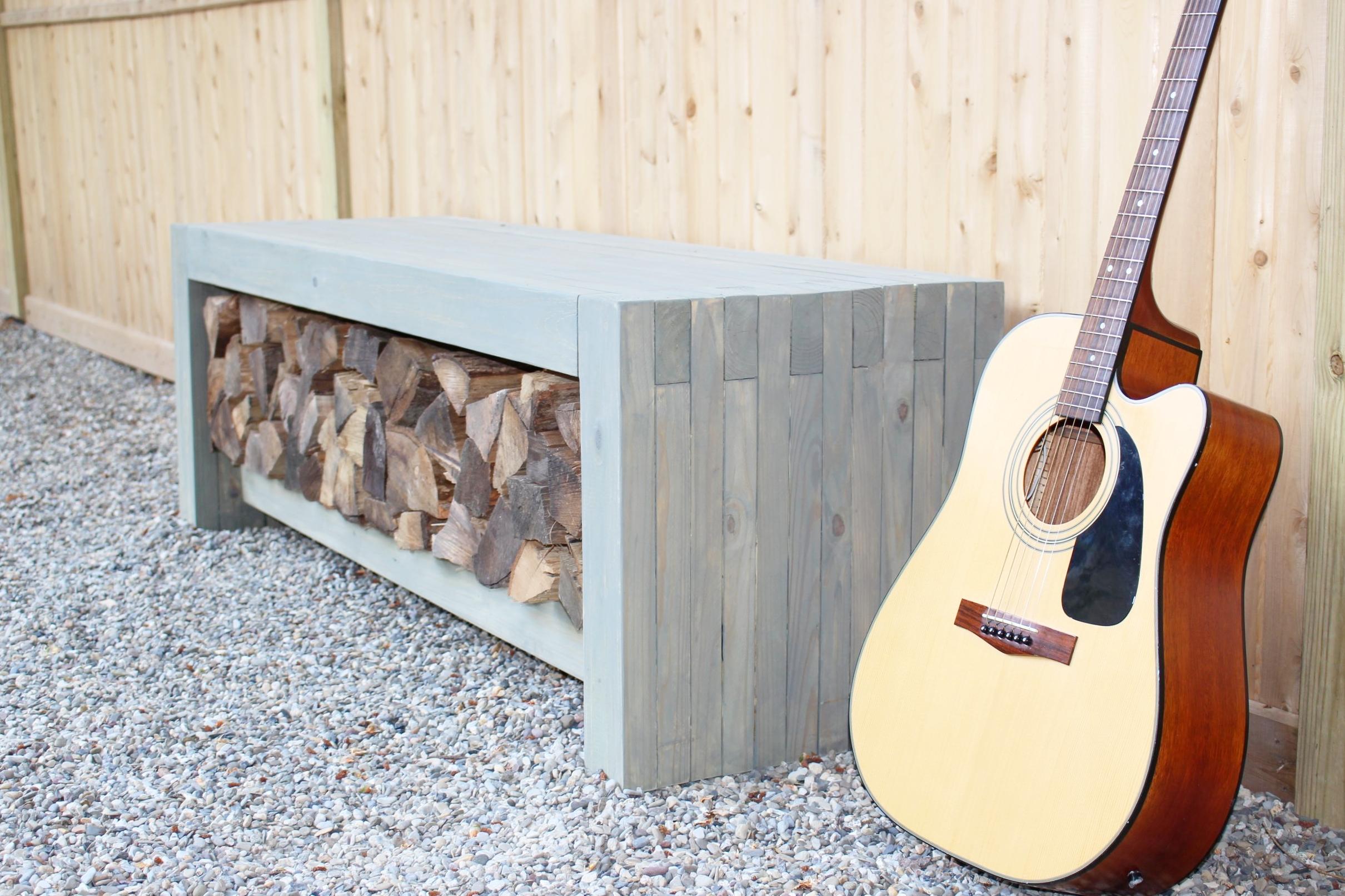 DIY Firewood Storage Bench - 3x3Custom Designs