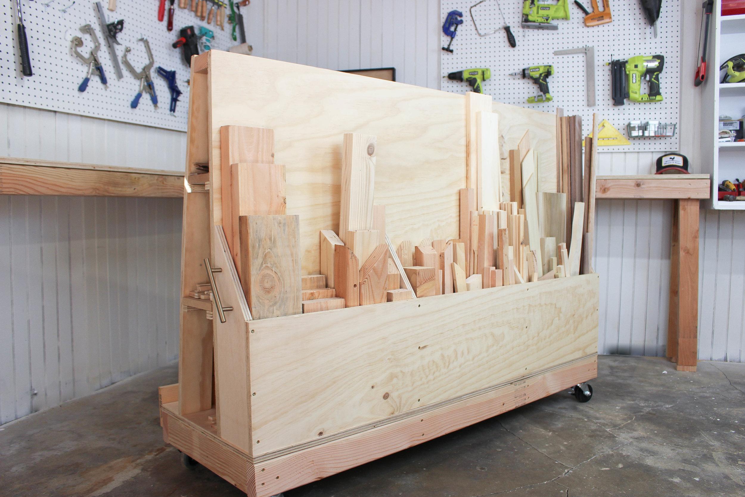 3x3CUSTOM Scrap Wood Storage Cart