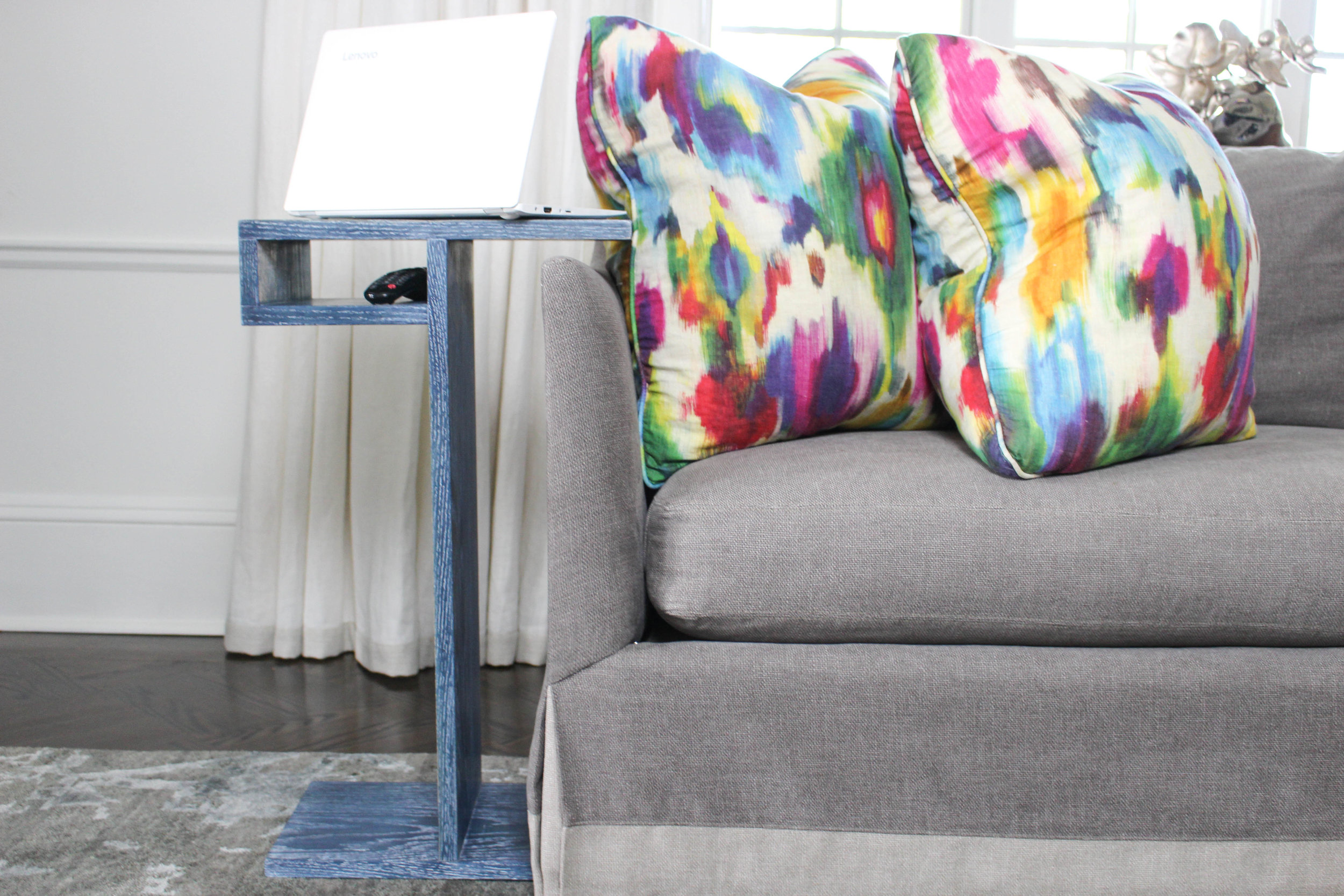 3x3 Custom Side Table with Storage Shelf