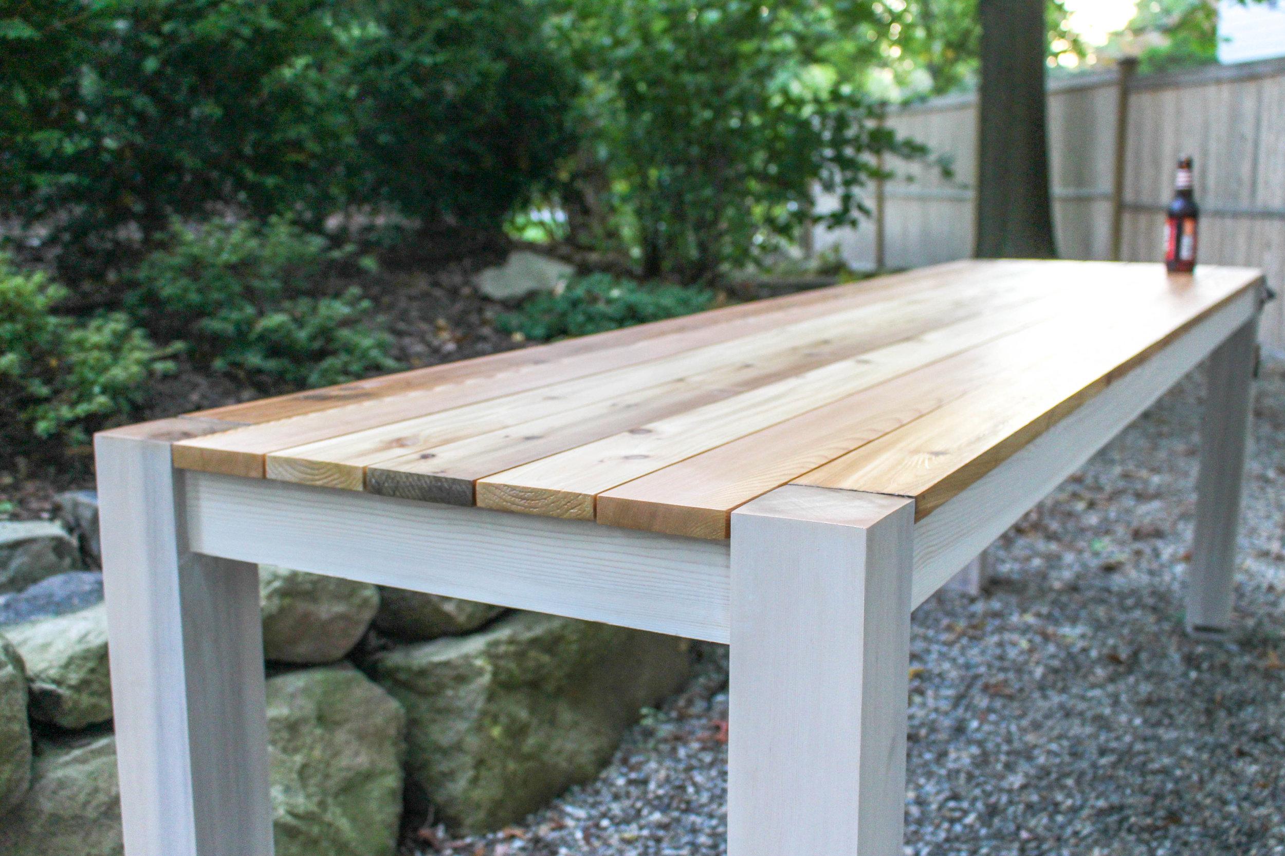 3x3 Custom Outdoor Table