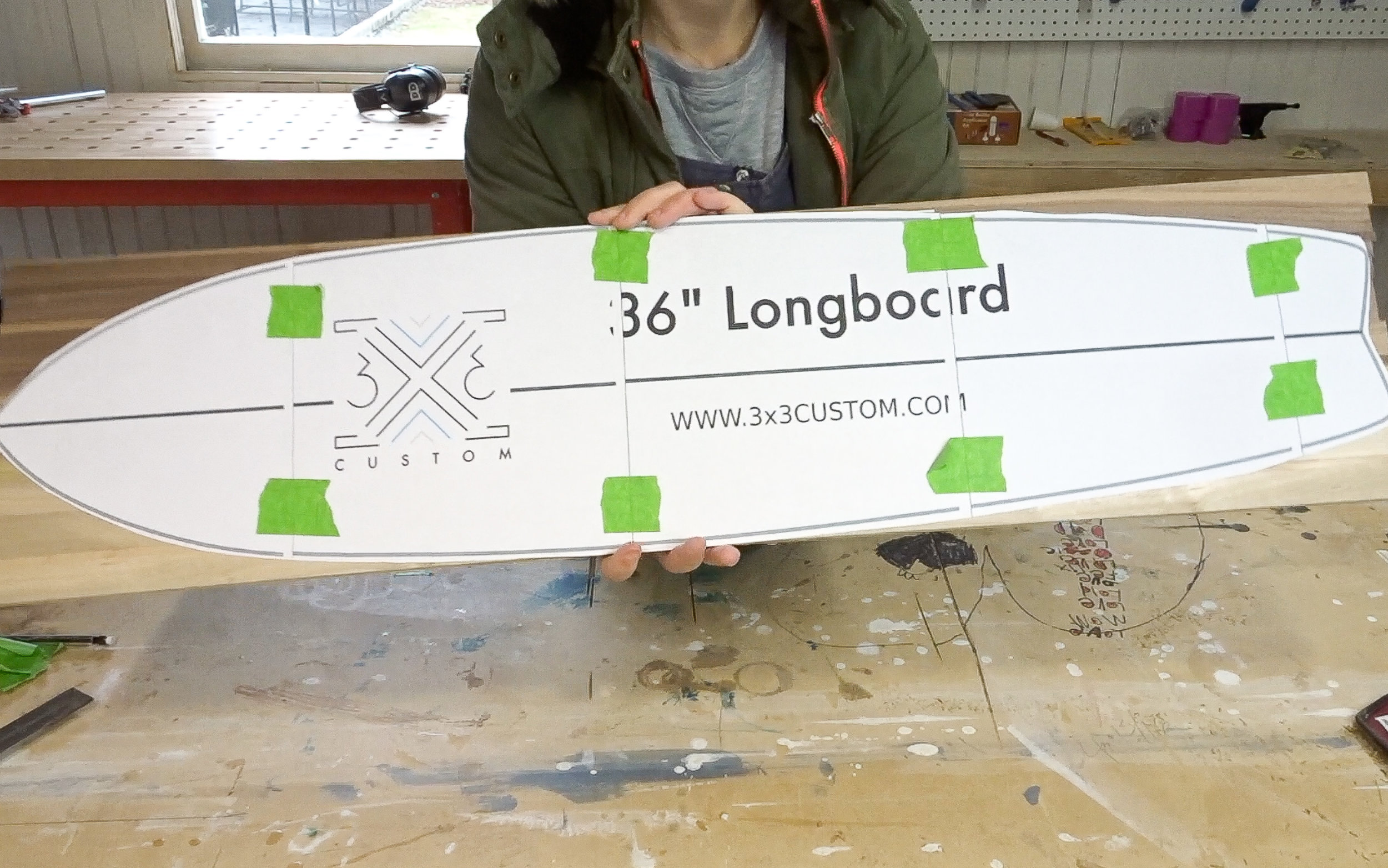 3x3 Custom Longboard Template