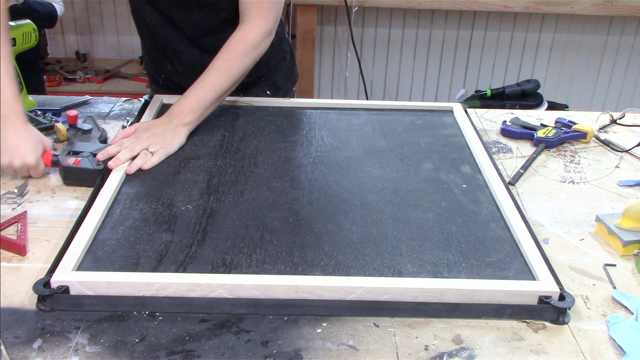 3x3 Custom Wood Magnet Board
