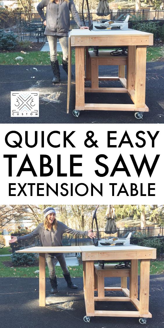 3x3 Custom Tablesaw Extension Table