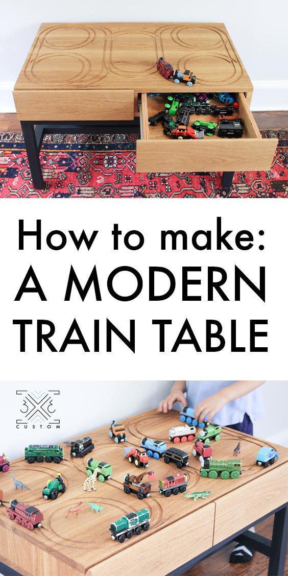 3x3 Custom Modern Train Table