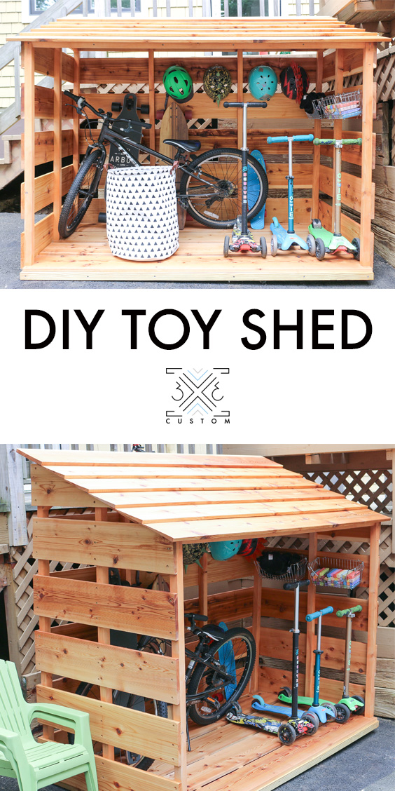 3x3 Custom DIY Bike Shed
