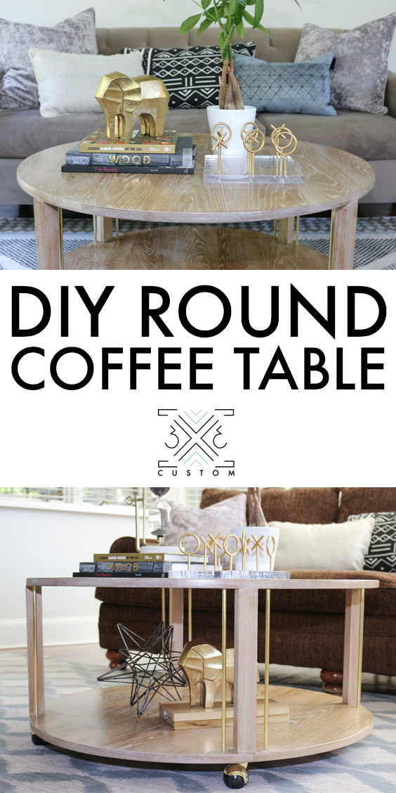 3x3 custom round coffee table