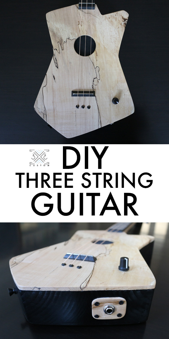 3x3 Custom Three String Guitar