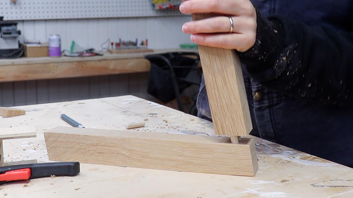 3x3 Custom Angled Dowel Joinery