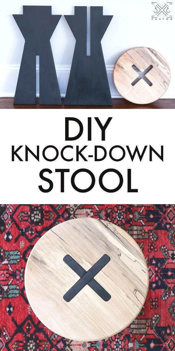 DIY Knock Down Stool