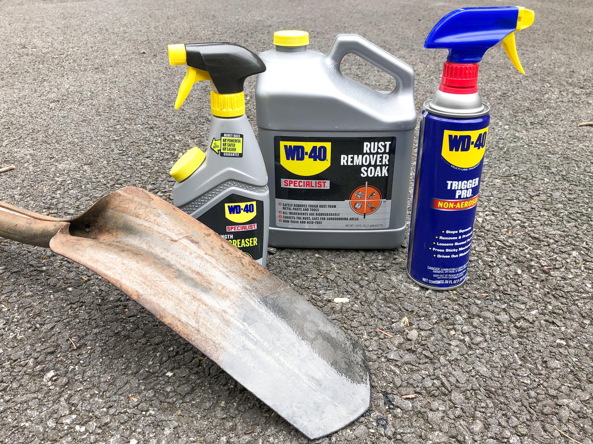 WD-40 rust remover soak