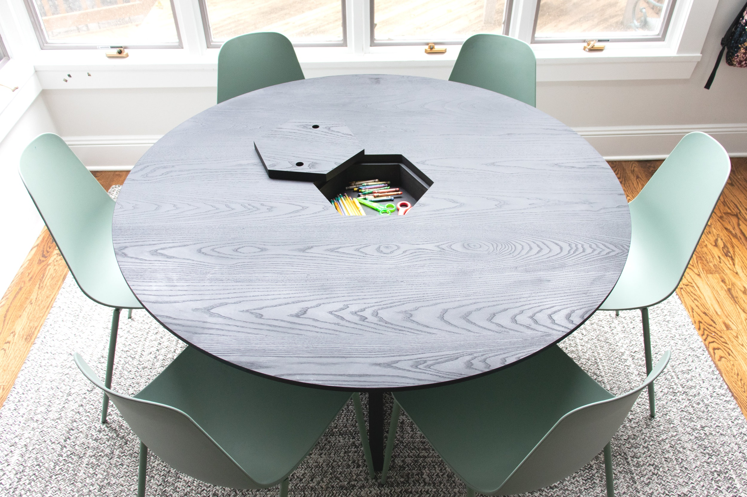 Dining Table with Storage - DIY Furniture
