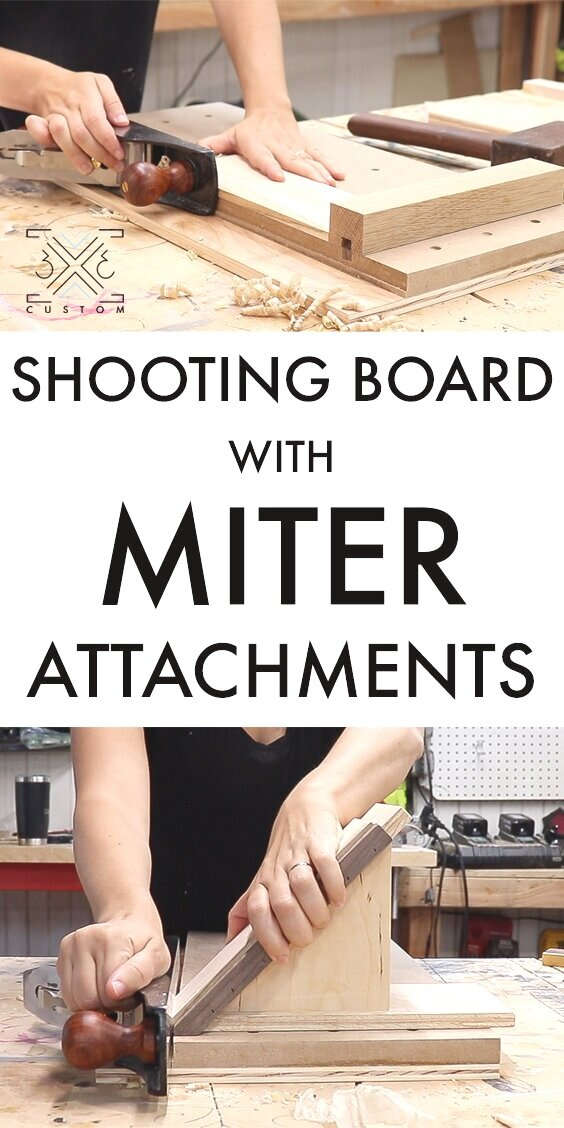 Shooting Board with Miter Attachments