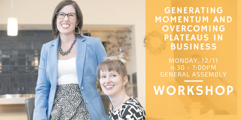 At some point in business, every entrepreneur hits the dreaded plateau.  You've reached a certain level of success, you want to grow your business to the next level, and you simply feel stuck.  Coaches Catherine A. Wood and Megan Taylor Morrison support business owners in reaching new levels of success by addressing both the internal and external obstacles in the way of reaching their goals.  In this interactive workshop, we will share our top tools and strategies for generating momentum, breaking out of overwhelm, gaining clarity on your roadmap to success, and putting sustainable support structures in place that skyrocket you to new level of success.