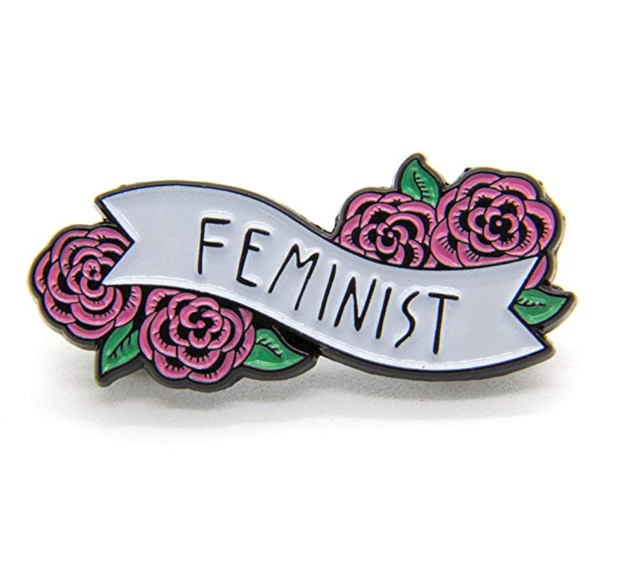 $11.99 | Feminist Enamel Pin with Flowers