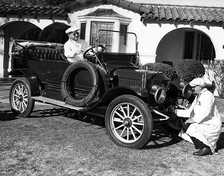 1948 -Ray Nelson with his Stanley Steamer