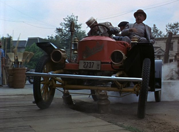 The Rascal - The 1969 comedy-drama film made by Walt Disney Productions, featured Ray Nelson's Stanley Steamer being driven into a pond during a vigorous race scene.He bought the car in 1949 and spent 2 1/2 years restoring it. Because Ray Nelson lived near Hollywood, he was able to provide several Antique Automobiles to the film industry. For more behind the scenes photos of the Stanley in the pond click here.