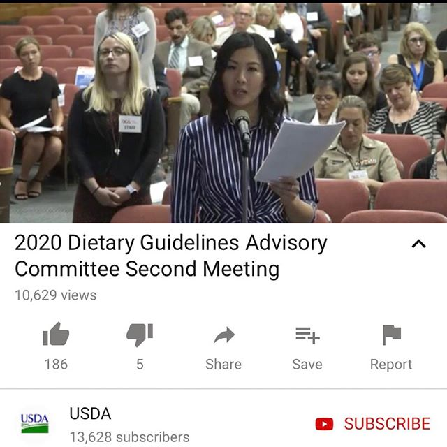 """📝 About 3 weeks ago, I participated in the Dietary Guidelines Committee hearing at the USDA. The committee and their report helps shape our country's nutrition policies, which are evaluated once every 5 years!  🌱 It was an amazing experience and I highly encourage other health pros and advocates to get involved in the process. We each had 3 minutes to state our position literally down to the second and you were """"thank you-d"""" off the mic. 😆  💚 I am so grateful to do what I love each day, which led me to rep and continue to rep for plant-based brands and companies that I love @growplantbased!   #dowhatyoulove #findyourpurpose #eatplantsandprosper ✌️        #plantbased #foodlover #vegan #veganfood #heresmyfood #f52grams #food #plantbasedrd #plantbaseddietitian #culinarynutrition #foodlover  #foods4thought #whatveganseat #plantbaseddiet #guthealth #phytonutrients #planethealth  #antioxidants #plantbasedleaders #planetaryhealth #planetarydiet"""