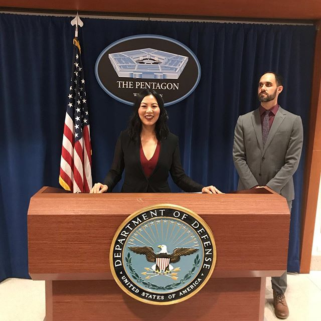 ⚡️Just stopped by for a quick briefing at the pentagon with my head of security @stevemilo ✌️