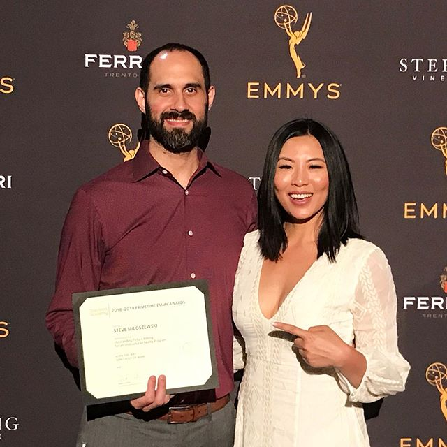 ✨Wonderful way to kick off our crazy month of September! Congrats @stevemilo!!! All your hard work last few years paying off!! So so proud of you!! ❤️ ✨ Outstanding Picture Editing nominee for Born This Way on @aetv!