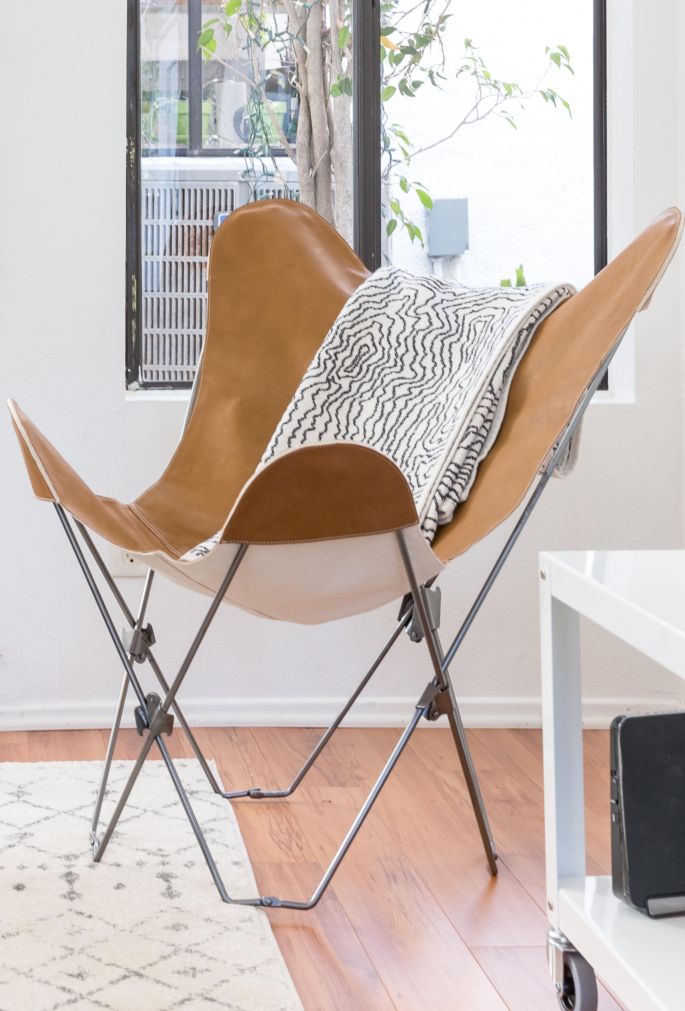 Carmel Leather Butterfly Chair Batch