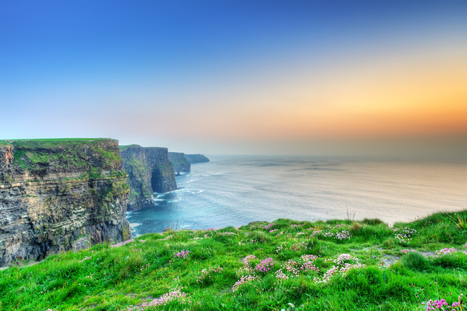 The Cliffs of Moher & The Burren Day Tour - Encounter dramatic cliff coast and the quaint fishing village of Kinvara. Visit Dungaire Castle, Ballyvaughan and the beaches of Fanore. Enjoy dining, shopping & pubs in Doolin and possibly take a ferry to the Aran Islands. Be awed by the Cliffs of Moher, the Burren and Ailiwee Caves. Don't miss the Lady Gregory Museum &Coole Park, plus WB Yeats home nearby in Thoorballylee, Gort. Return to Galway City.