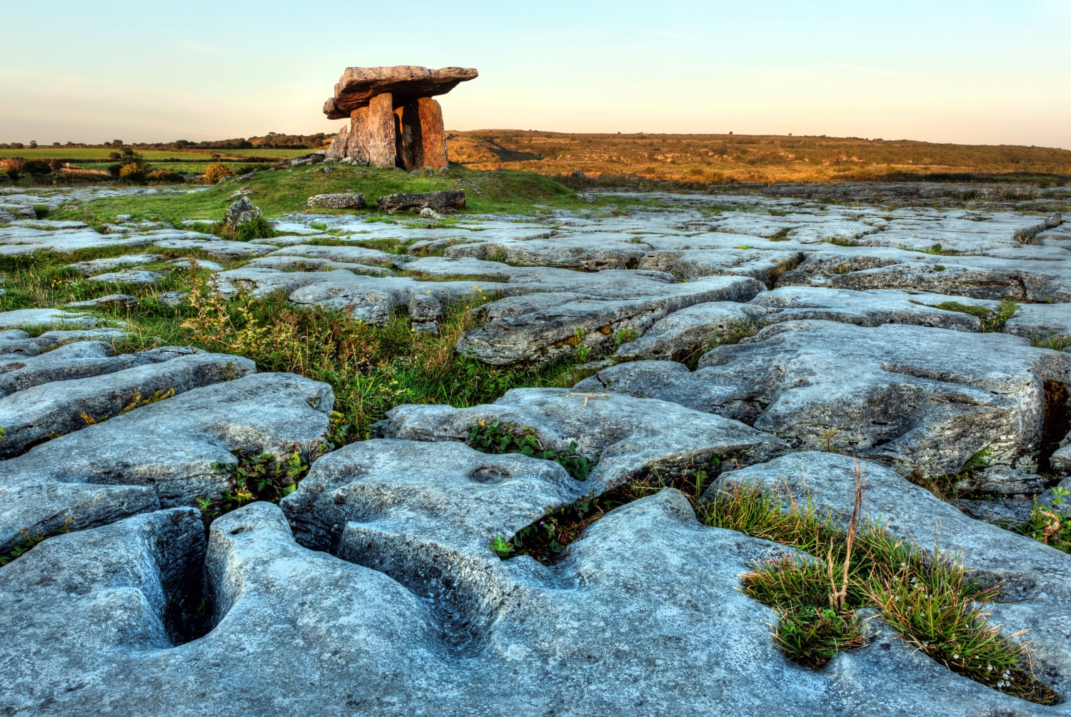 Ancient Neolithic Stone Tomb in Ireland