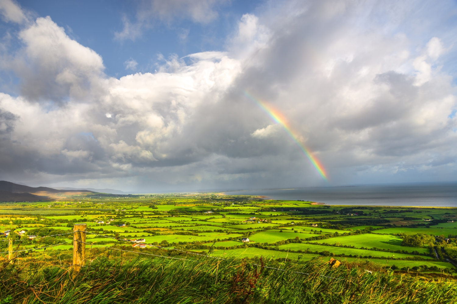 Rainbow over the Ring of Kerry in Ireland