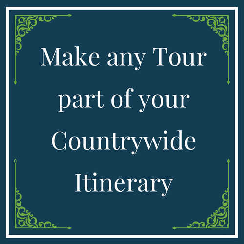 Make any Tour part of your Countrywide Itinerary