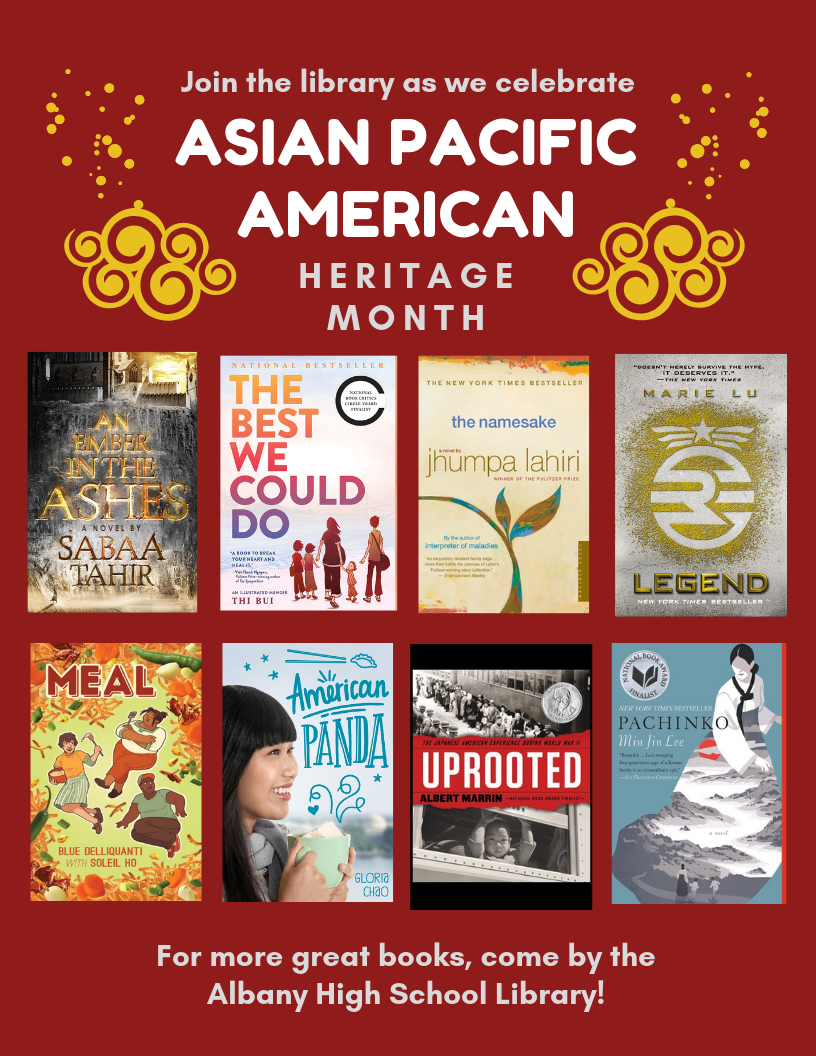 American Panda , by Gloria Chao  The Best We Could Do , by Thi Bui  Ember in the Ashes , by Sabaa Tahir  Forward Me Back to You , by Mitali Perkins  Legend , by Marie Lu  I Believe In a Thing Called Love , by Maurene Goo  Meal , by Blue Delliquanti  The Namesake , by Jhumpa Lahiri  Pachinko , by Min Jin Lee  The Paper Menagerie and Other Stories , by Ken Liu  The Samurai's Garden , by Gail Tsukiyama  Snow Flower and the Secret Fan , by Lisa See  Uprooted , by Albert Marrin