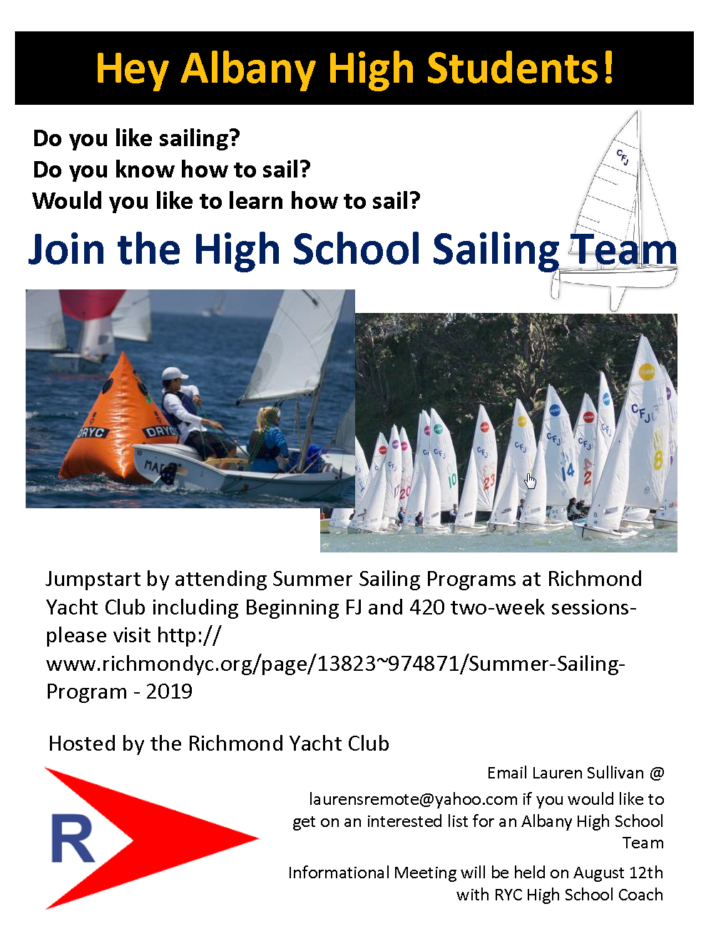 Albany High School Sailing Flyer RYC.png