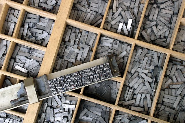 a set of metal types.  Wikicommons.
