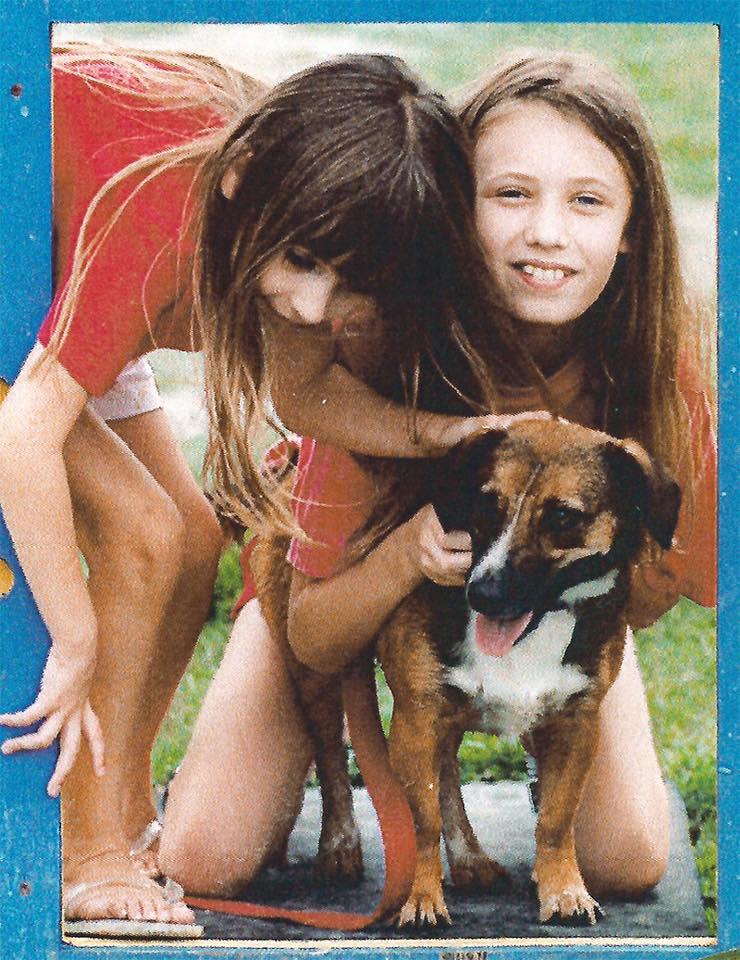 Lauren & her first dog, Daisy