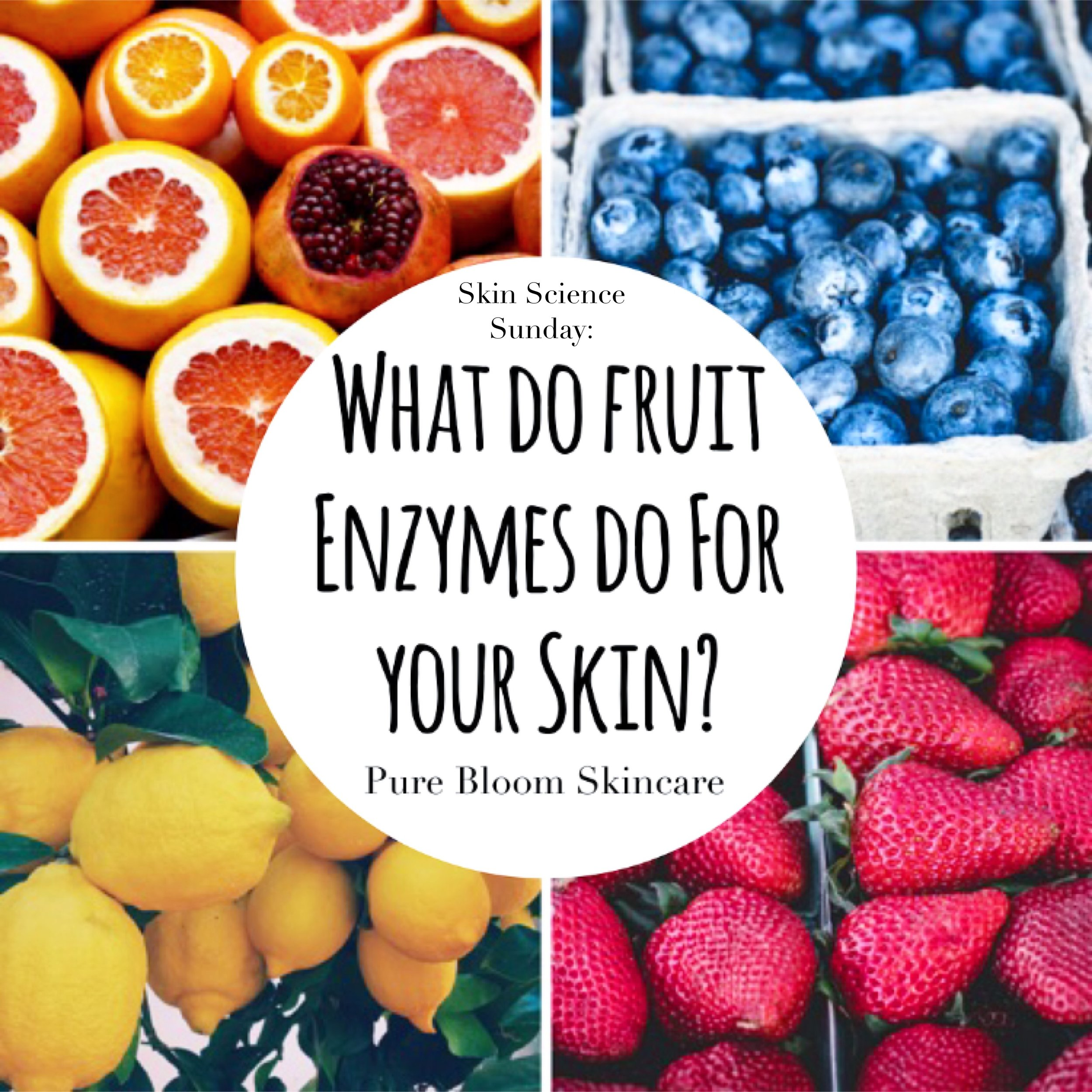 pure bloom skincare - skin science sunday: what do fruit
