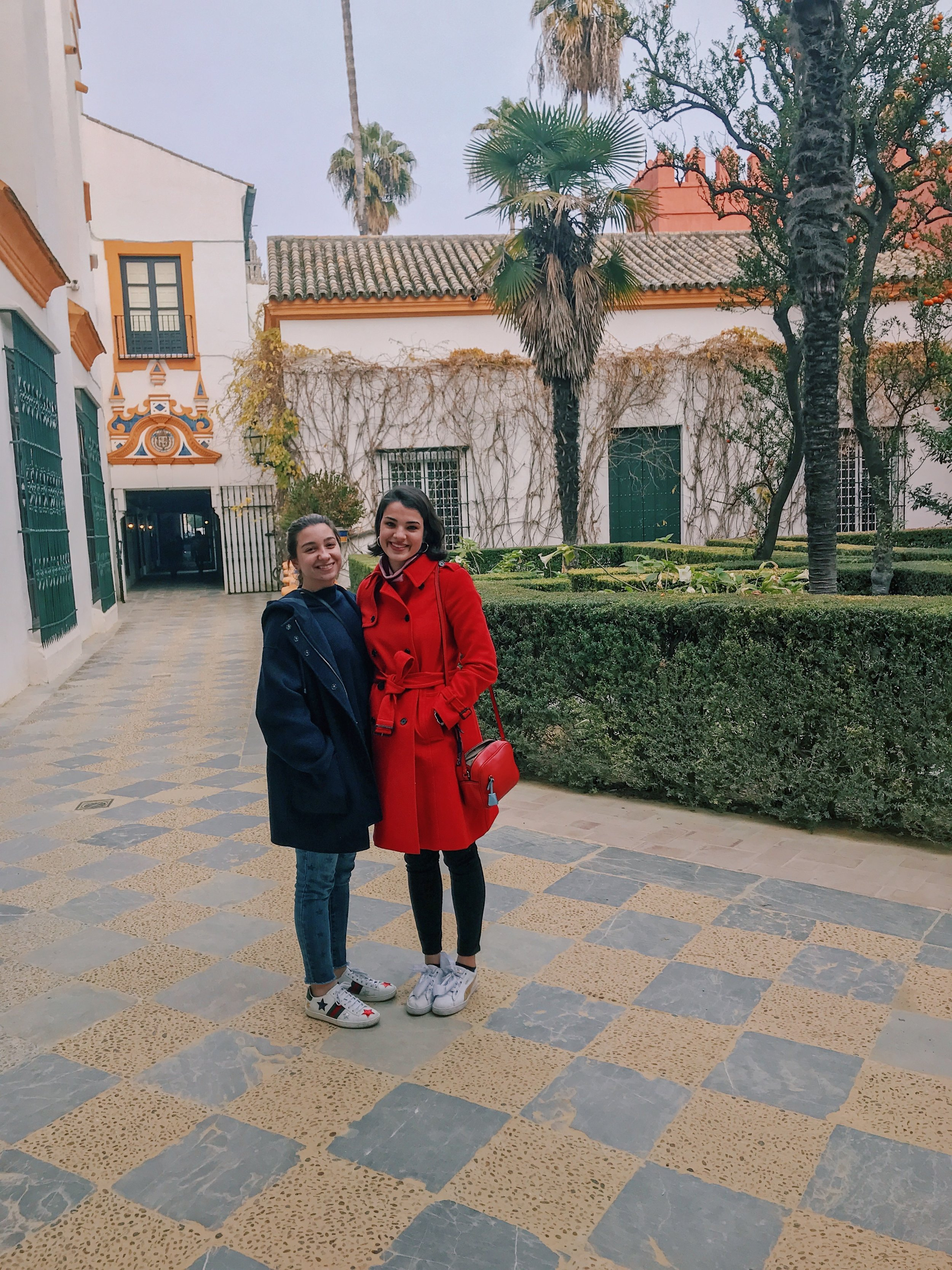 Madelyn and I in Real Alcázar.