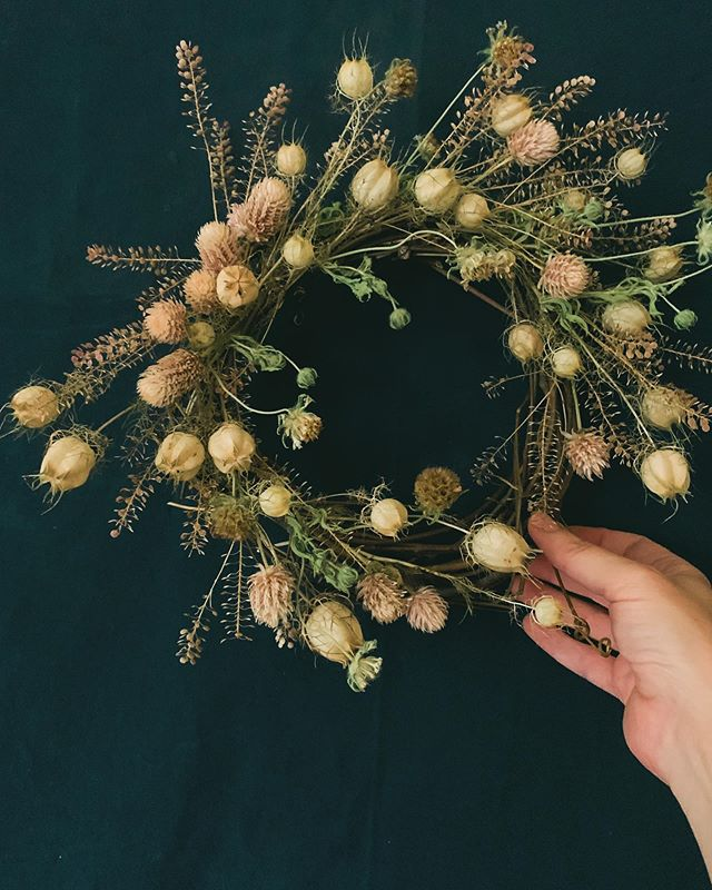 Summer bounty = dried bits wreaths