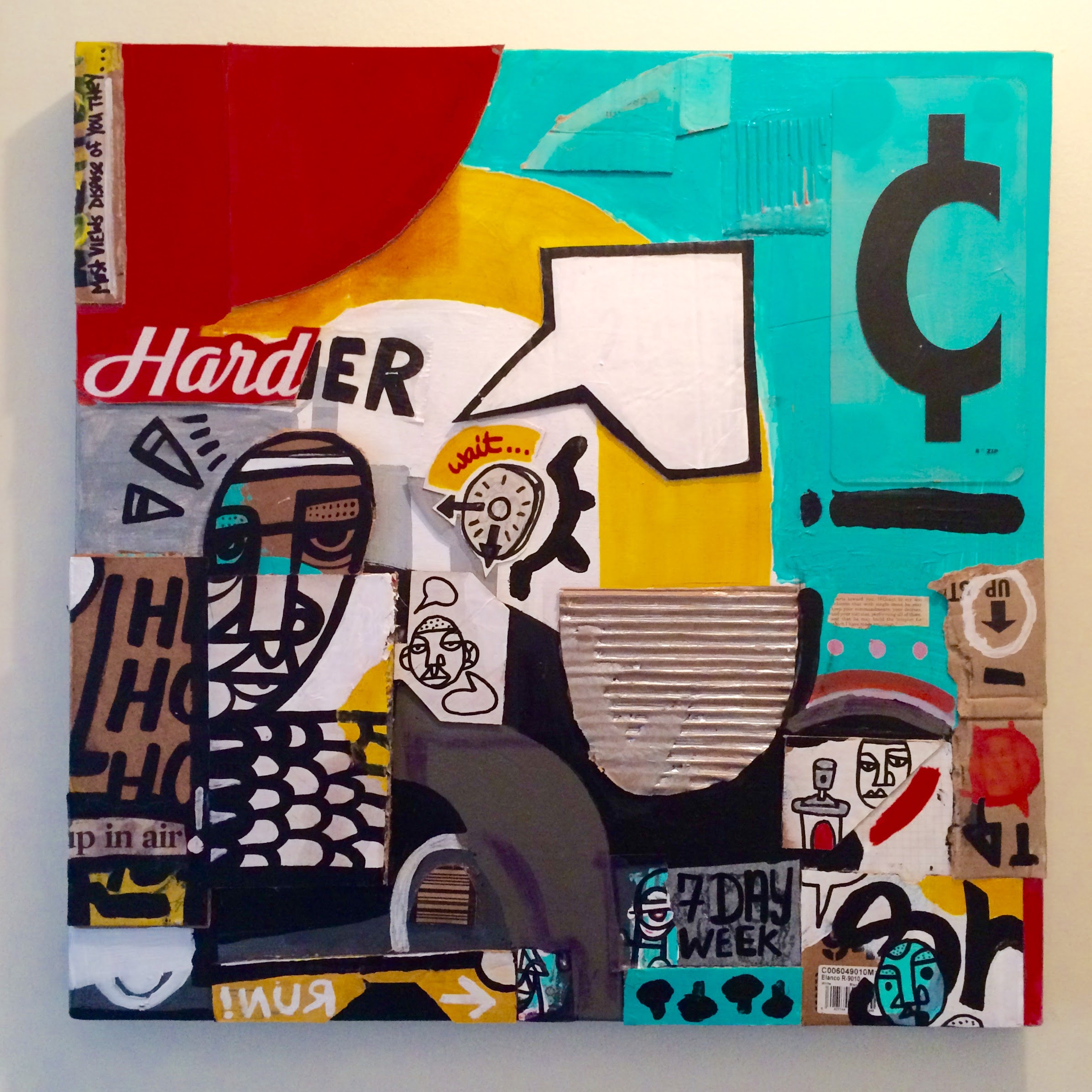 Harder 2 Make Cents - mixed media