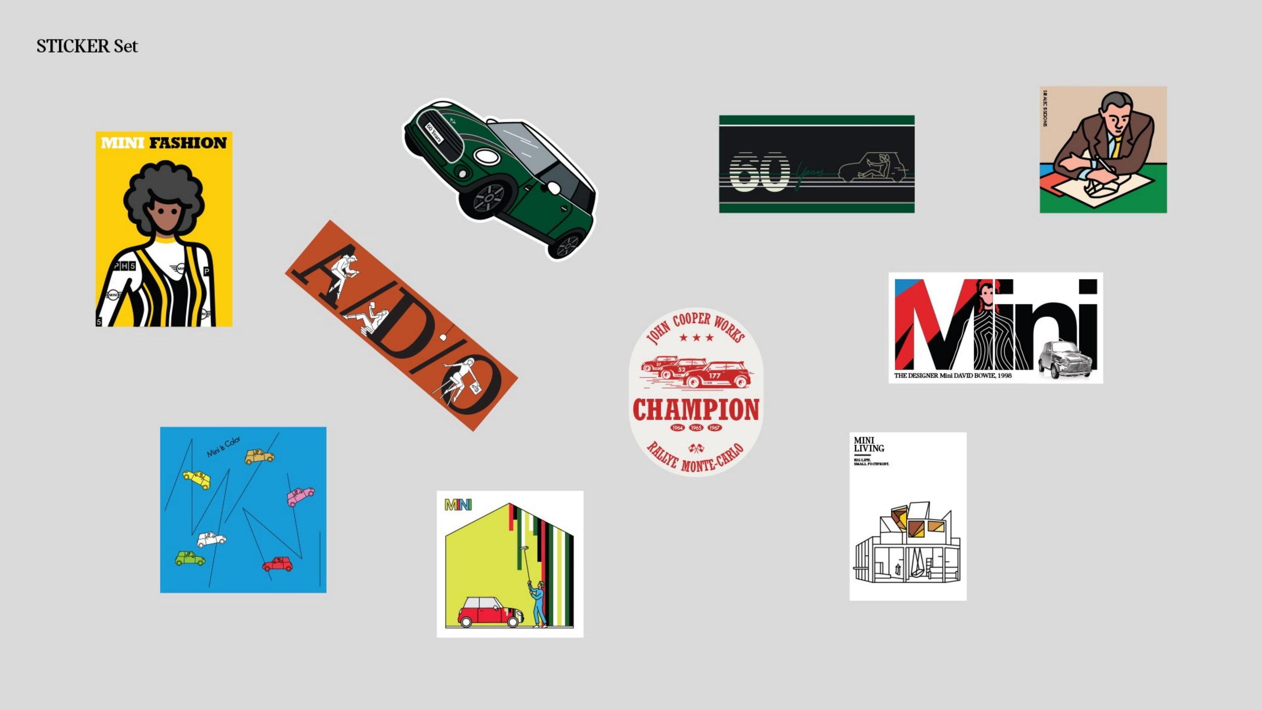 - mini 60 years of inspiration sticker set