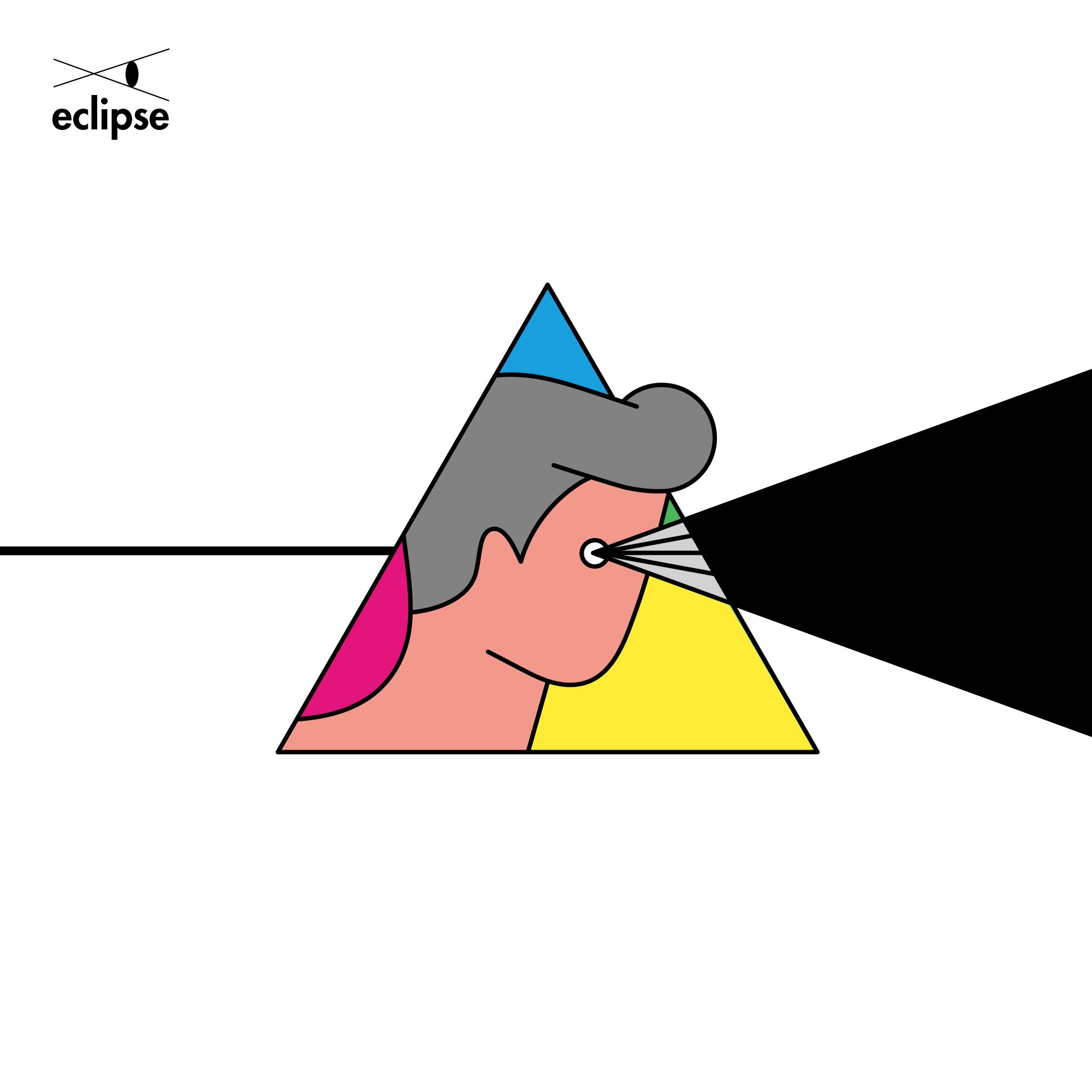 Agent89 프로젝트와 함께한 작업. Pink floyd의 'eclips' 의 싱글 앨범자켓을 새롭게 표현했다.