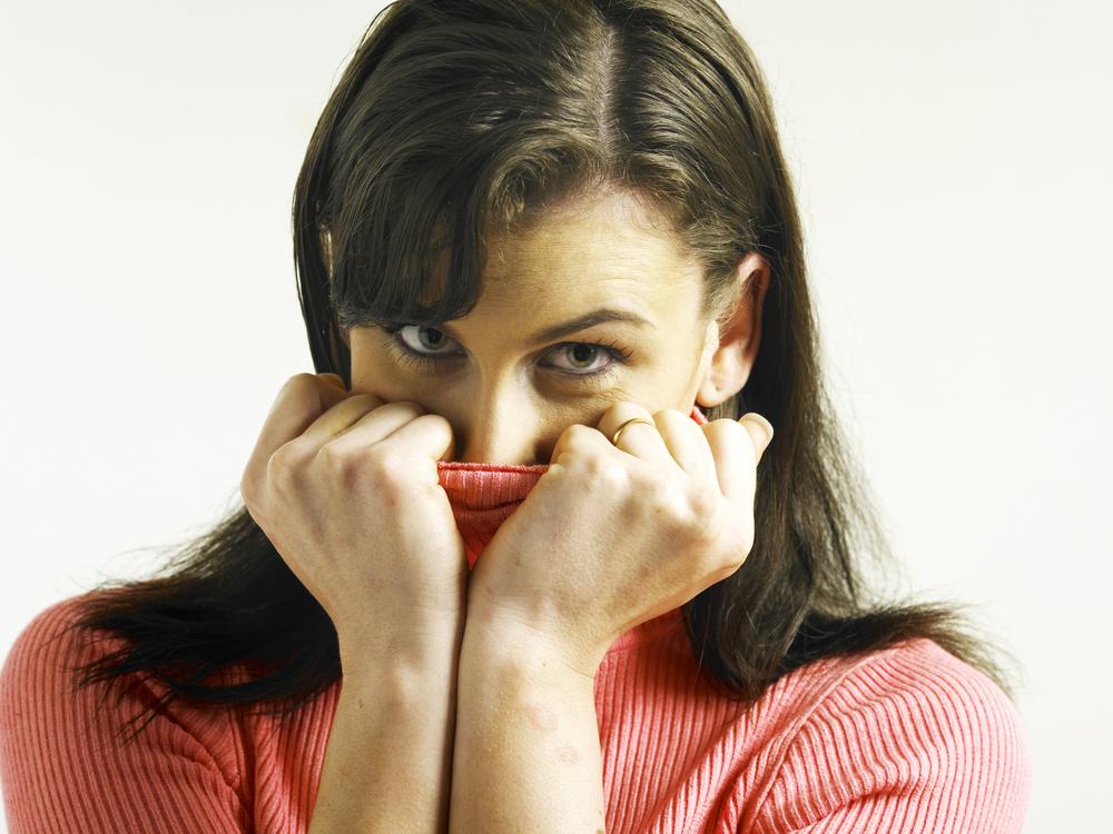 Woman Covering Bad Teeth